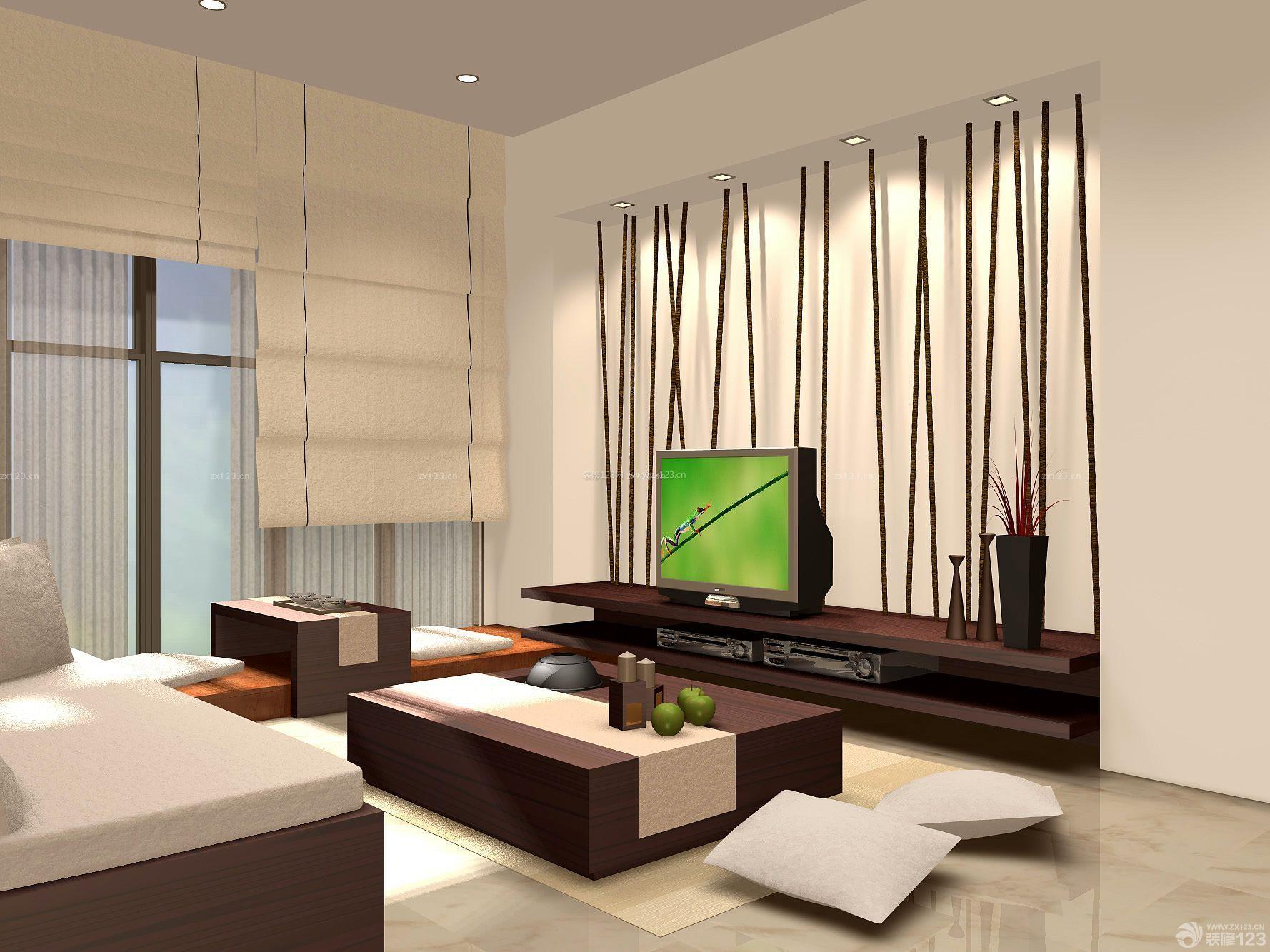 中式混搭房子客厅装修设计图片