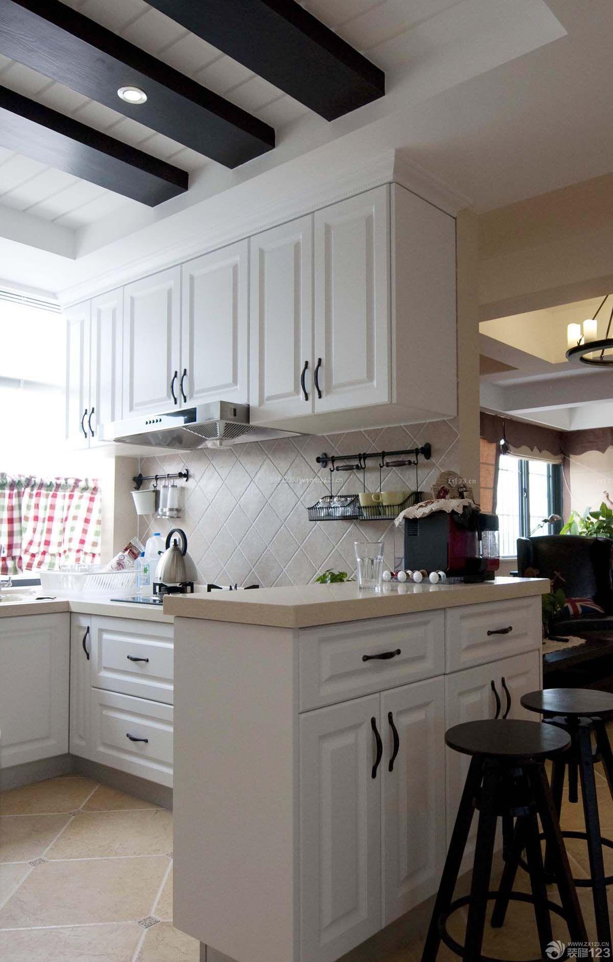 70平米小户型开放式厨房吧台装修设计效果图