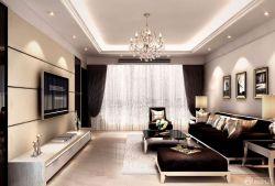 欧式黑白风格120平方房子装修图