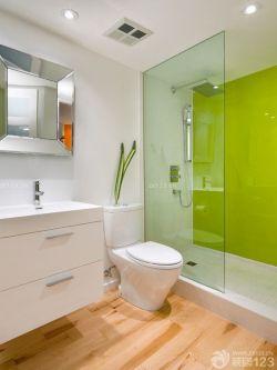 90平米新房衛生間玻璃隔斷墻裝修實景圖