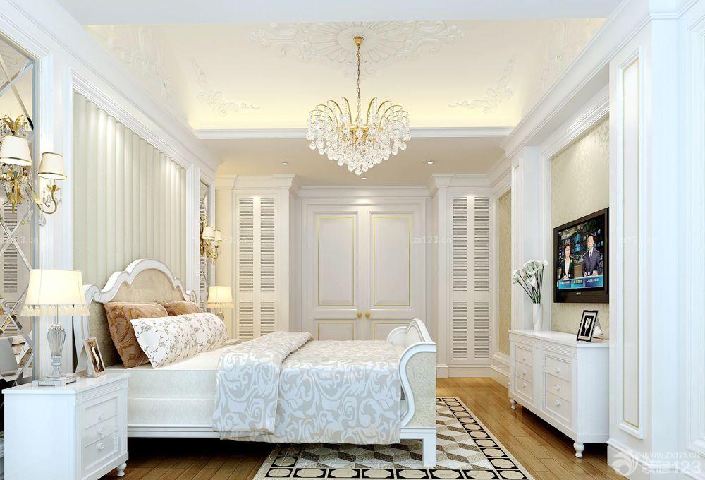 简欧风格200平米房屋卧室装修效果图