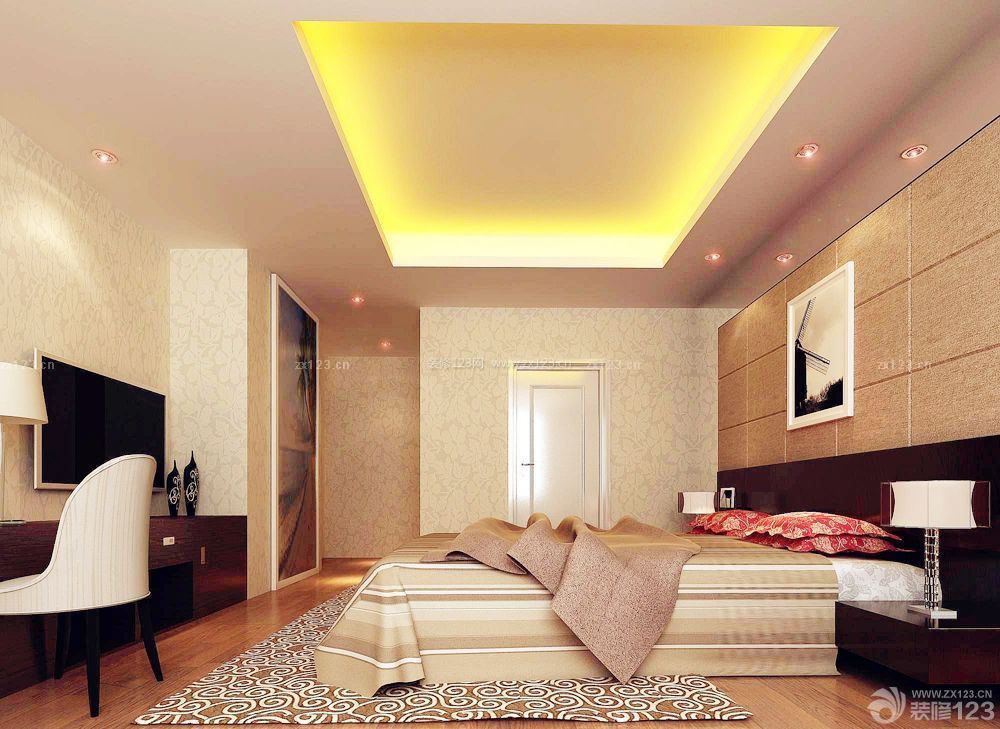 200平米房屋卧室吊顶设计装修效果图