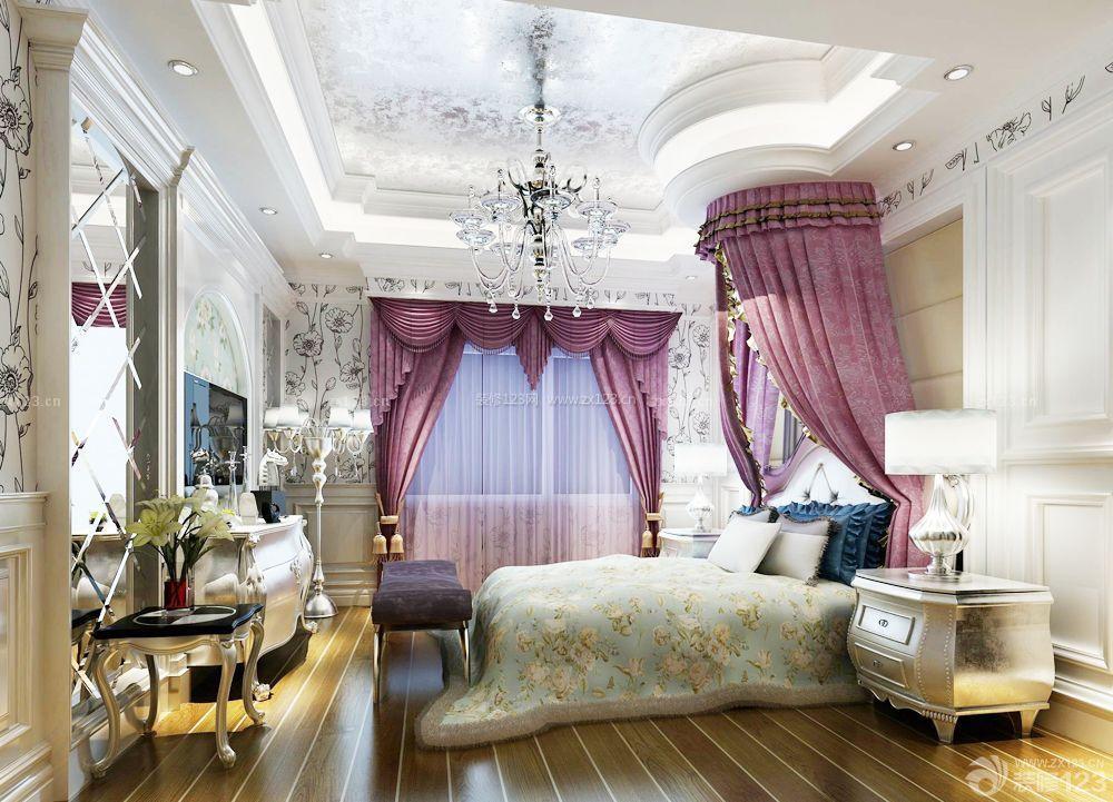 欧式200平米房屋卧室吊顶造型装修效果图