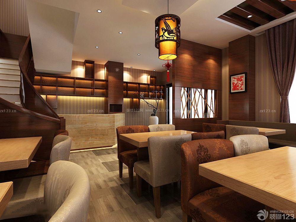 新中式风格餐饮店面设计装修效果图