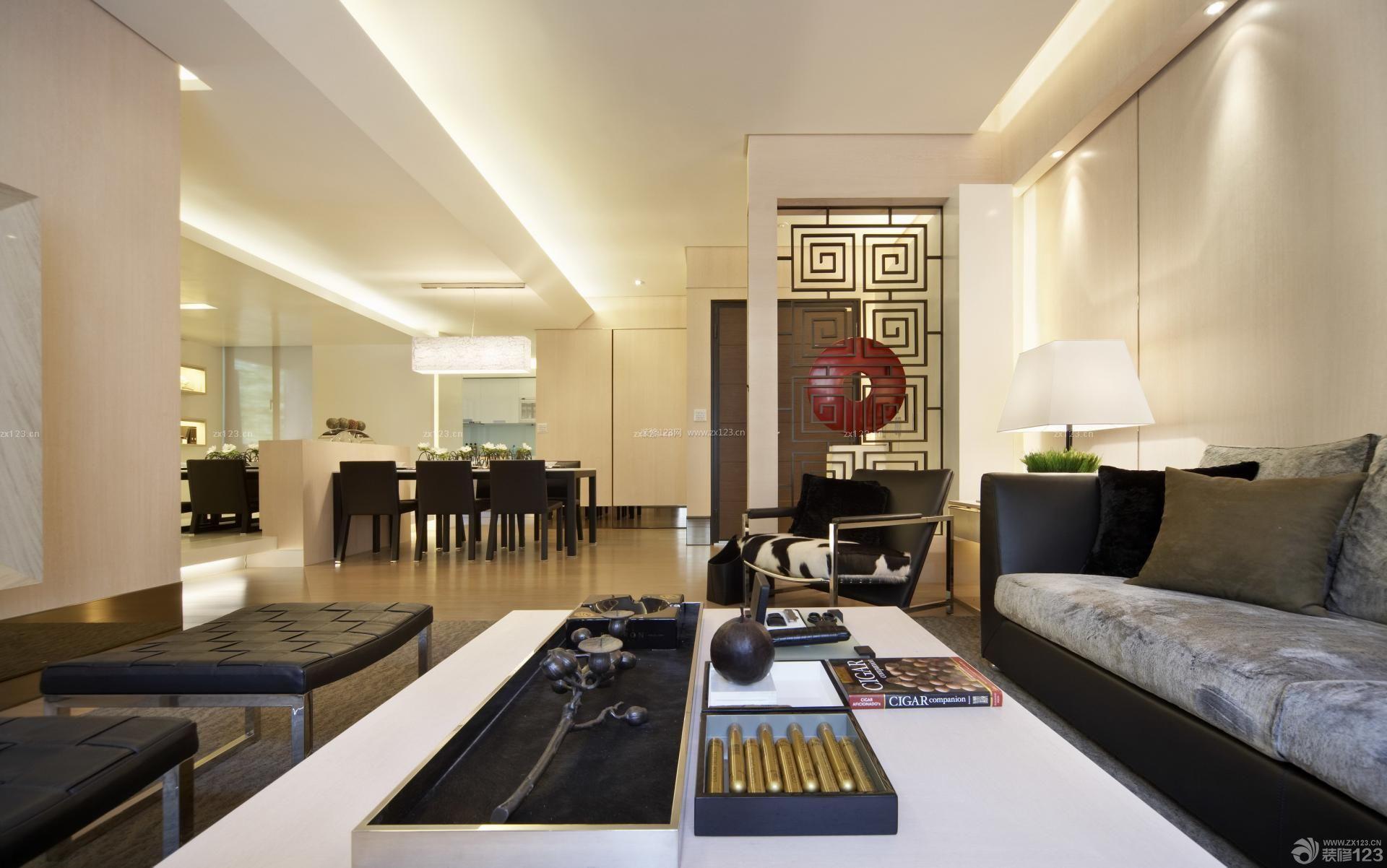 140平米房子客厅隔断装修设计效果图