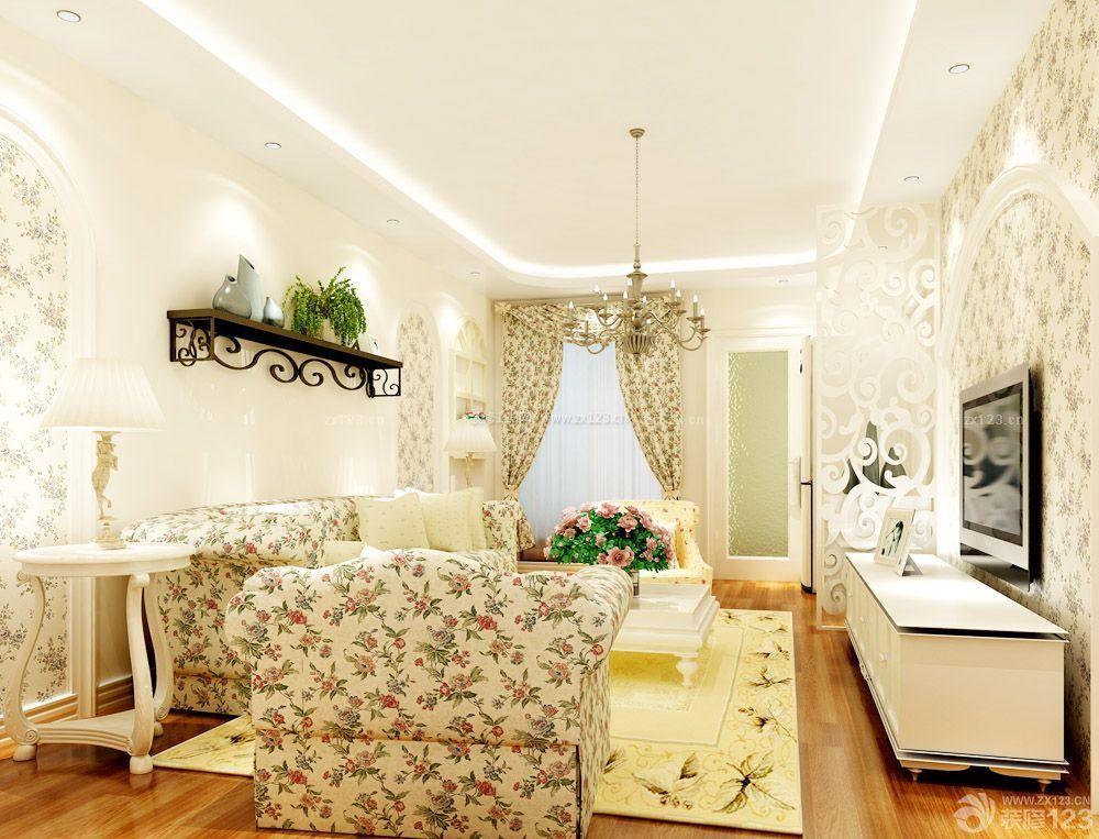 50平米的房子客厅沙发背景墙装修图