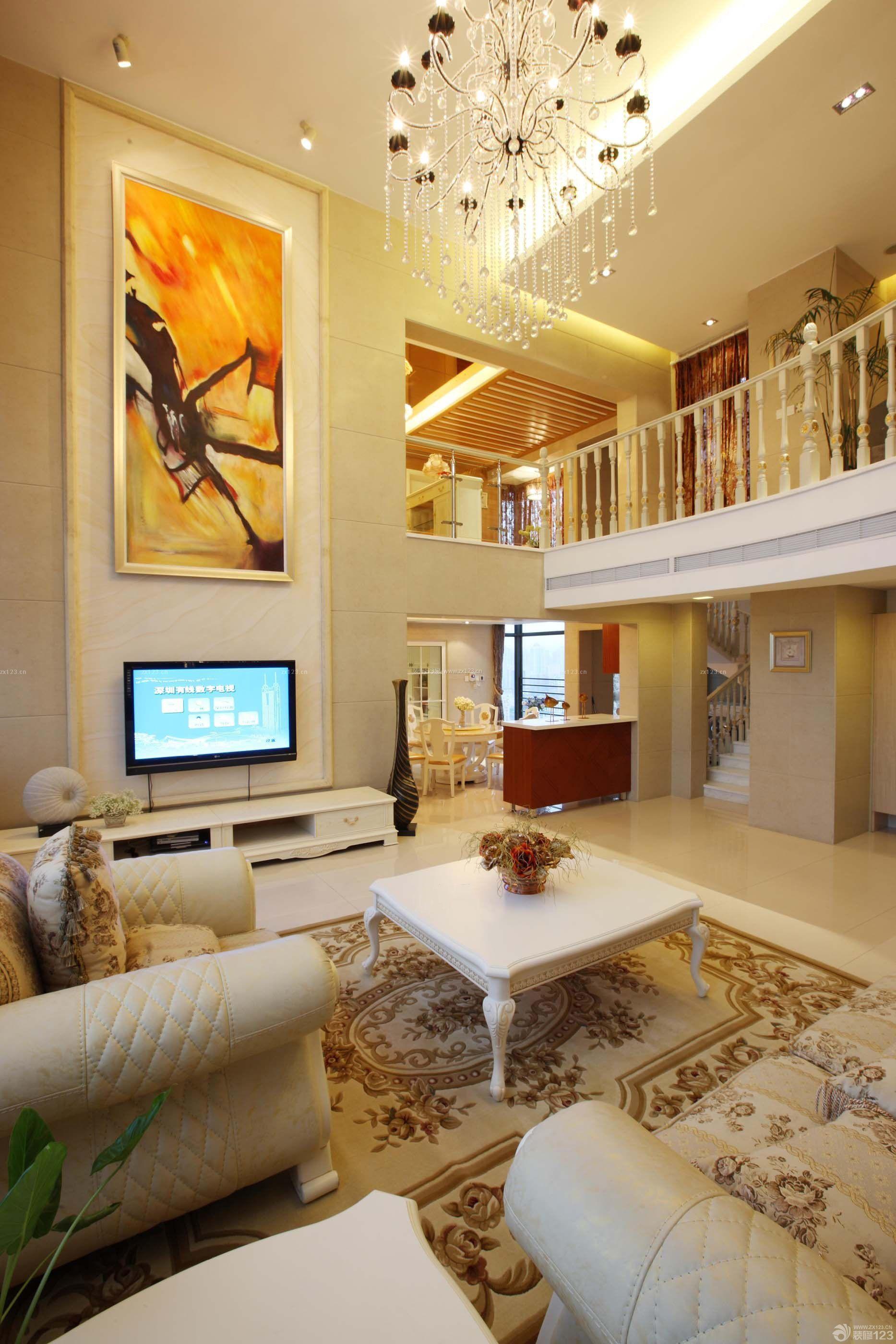 四房两厅140房子客厅装修效果图