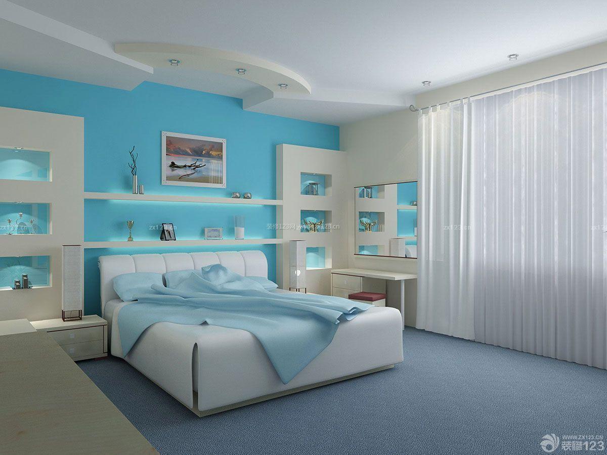时尚简约90平方房屋床头背景墙装修效果图