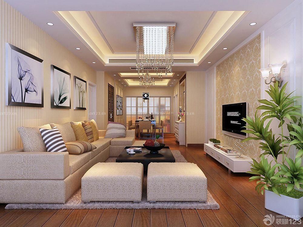 现代简约风格3室2厅房屋装修效果图大全