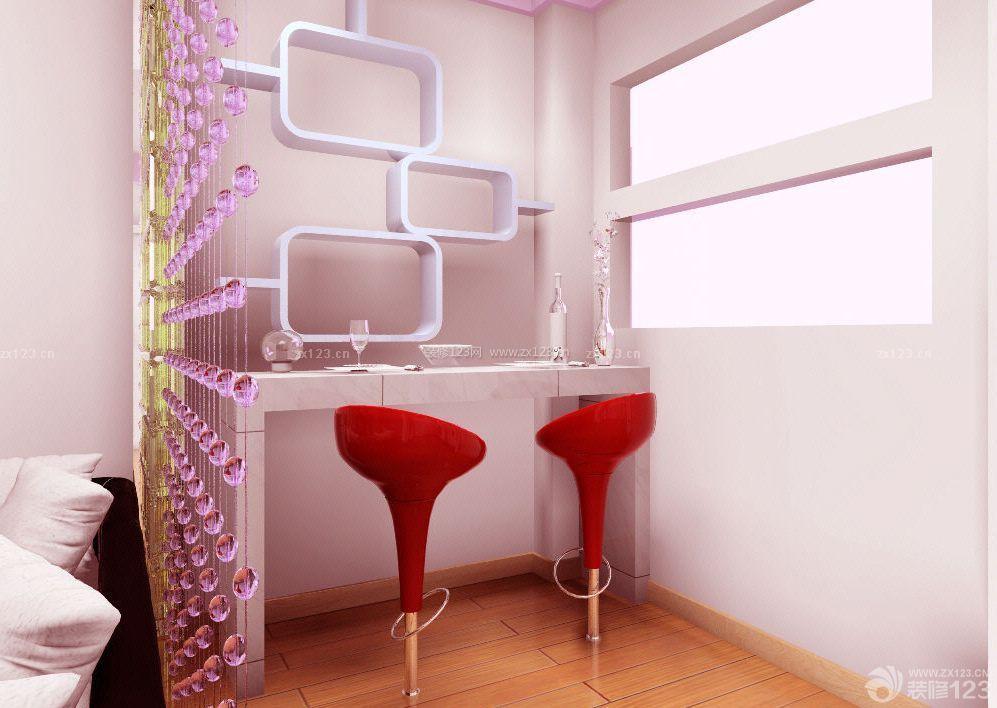 70平米小户型房屋客厅紫色灯带装修效果图片