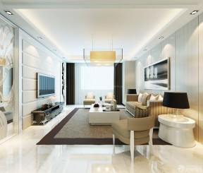 90平方房子裝修設計圖 現代客廳裝修