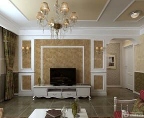 90平米新房裝修電視背景圖片 簡歐式風格
