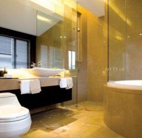 新中式风格卫生间浴室装修设计图 1372 最新中式卫生间浴室柜装修效果