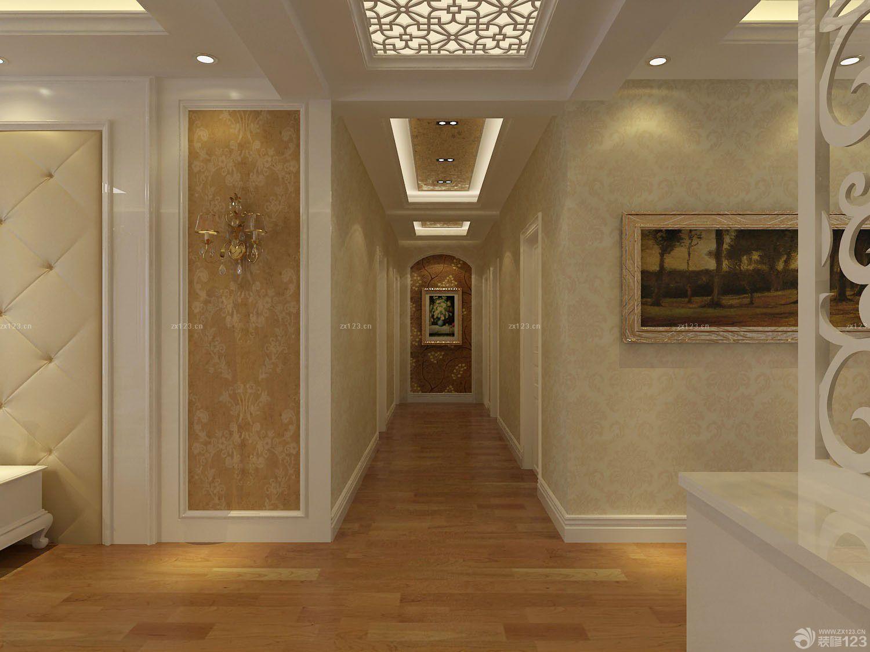 走廊玄关白色踢脚线效果图