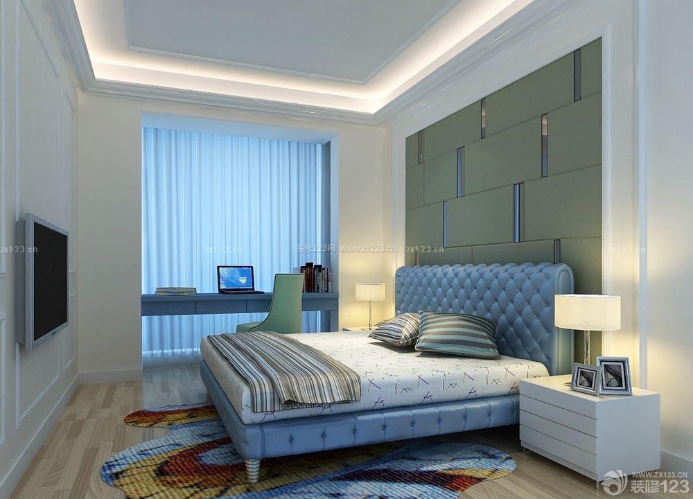 2015现代65平方房子床头背景墙装修效果图