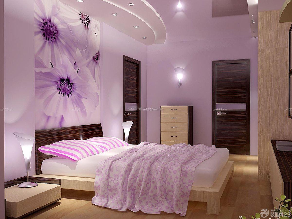 优雅现代90平方房子卧室吊顶设计装修效果图