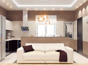 60平米小戶型客廳設計 雙人沙發裝修效果圖片