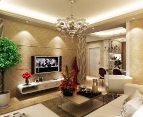 高層樓90平米房裝修 簡歐式風格
