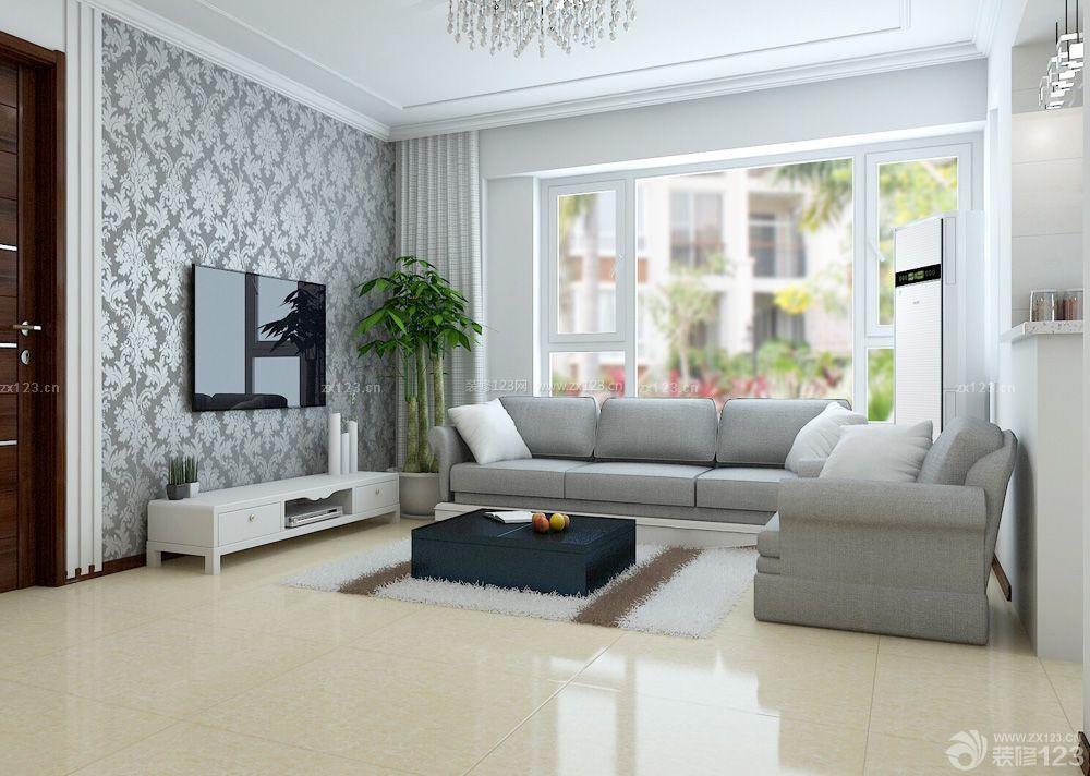 普通房子客厅电视背景墙装修效果图