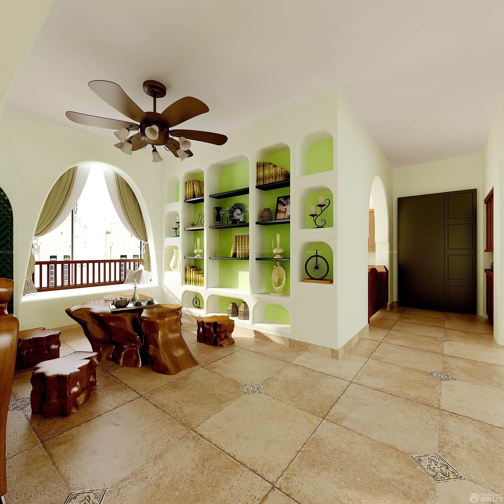 根雕茶桌房子装修效果图93平米