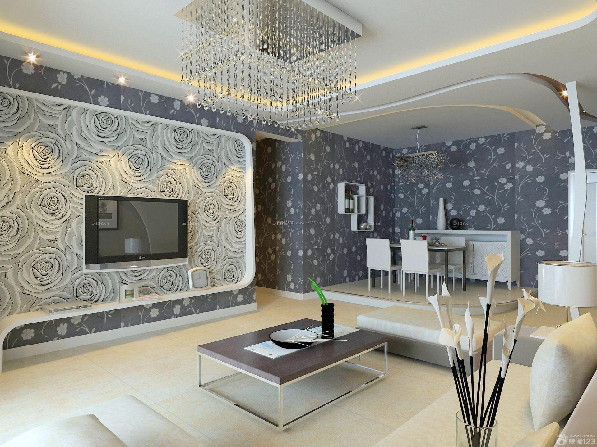 室内壁纸房屋装修效果图大全90