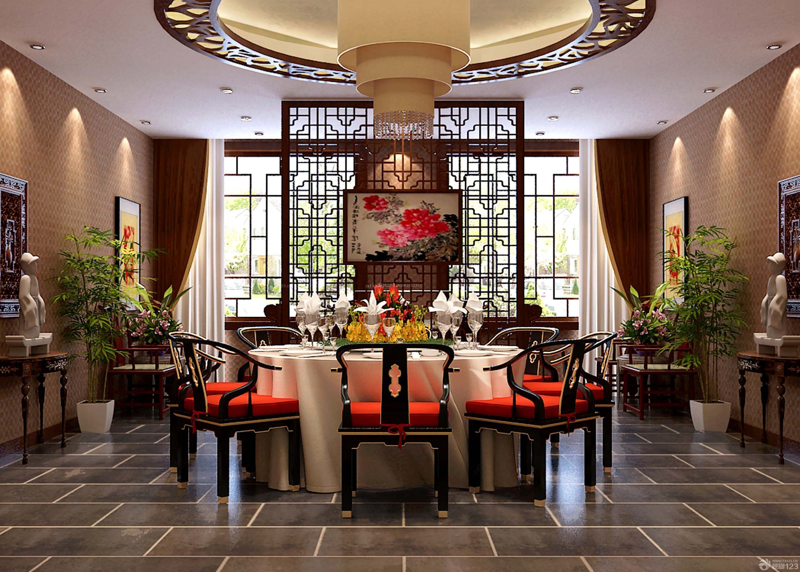房子中式风格餐厅设计装修效果图