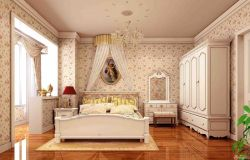 臥室壁紙80平兩室一廳裝修圖
