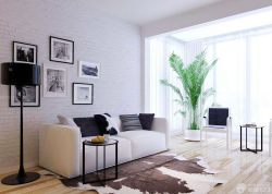 現代70平米房子客廳實木地板裝修圖
