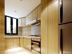 整體廚房原木櫥柜裝修效果圖片