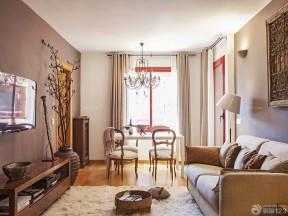 70平米二手房裝修效果圖 客廳餐廳一體裝修效果圖片