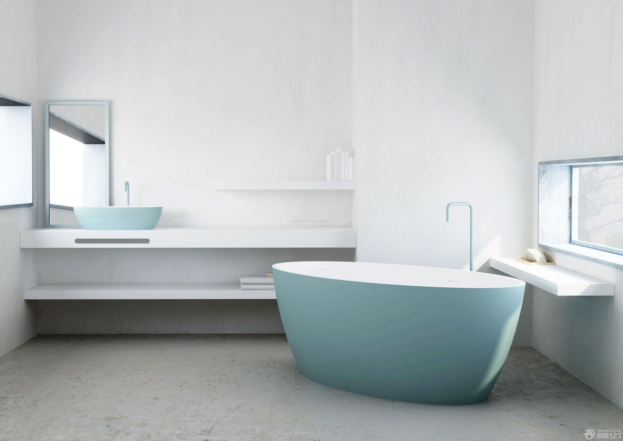 简约时尚家庭小别墅房子卫生间浴室装修图片