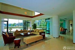 東南亞風格客廳沙發擺放裝修效果圖片