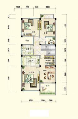 经典小户型80平方米别墅户型图