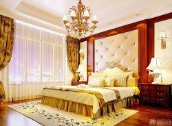 歐式室內臥室床頭背景墻裝修裝潢效果圖片
