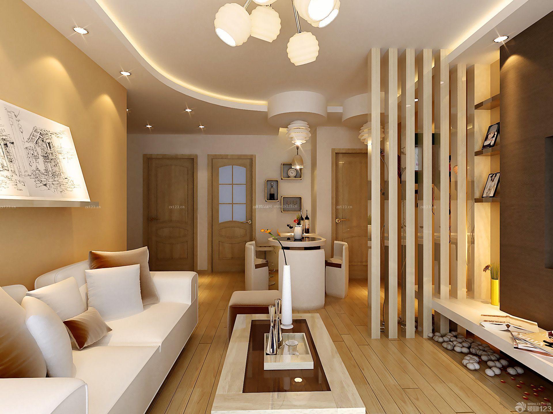 80后小屋客厅隔断设计装修效果图