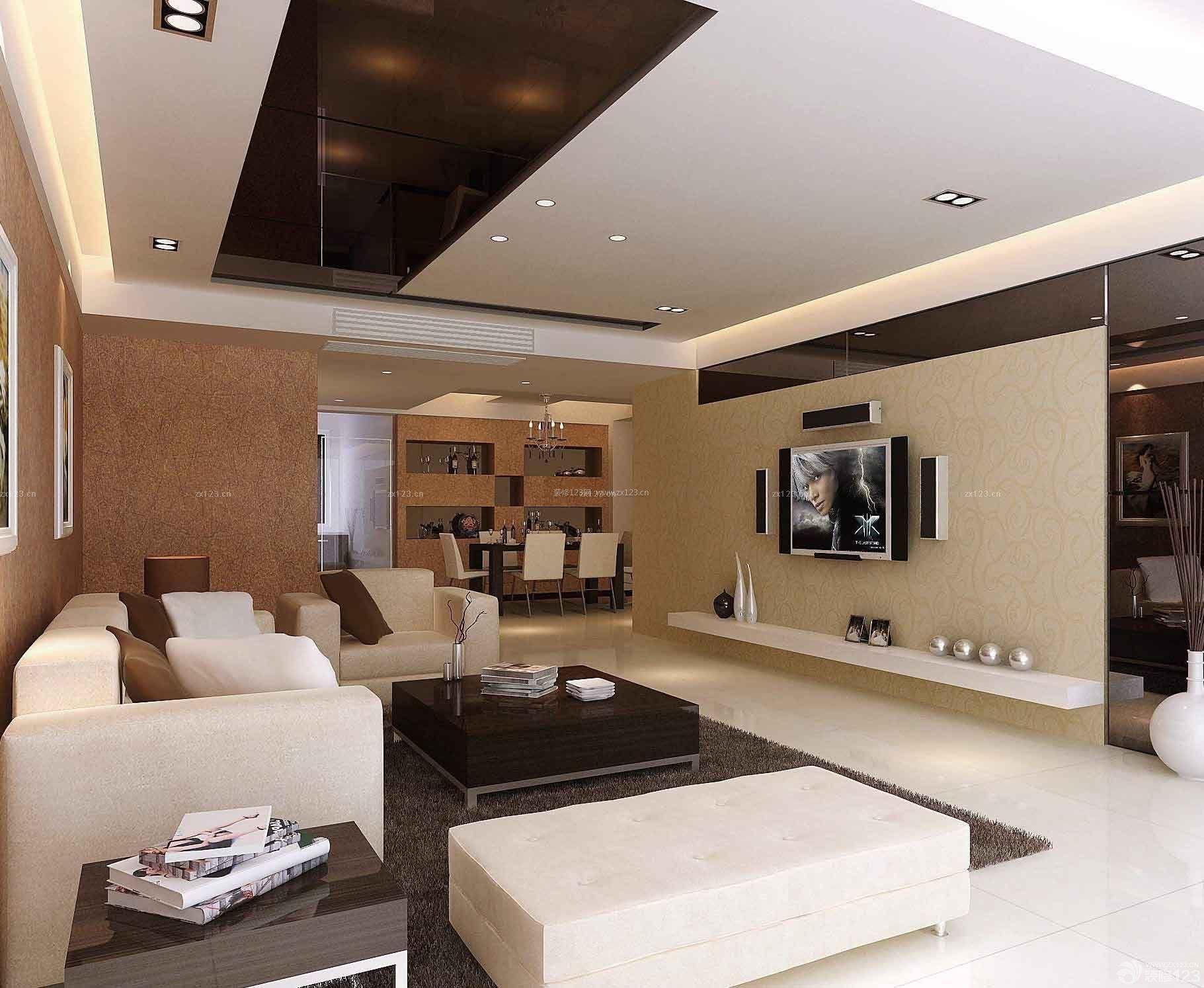 90多平方的房子室内客厅吊顶效果图