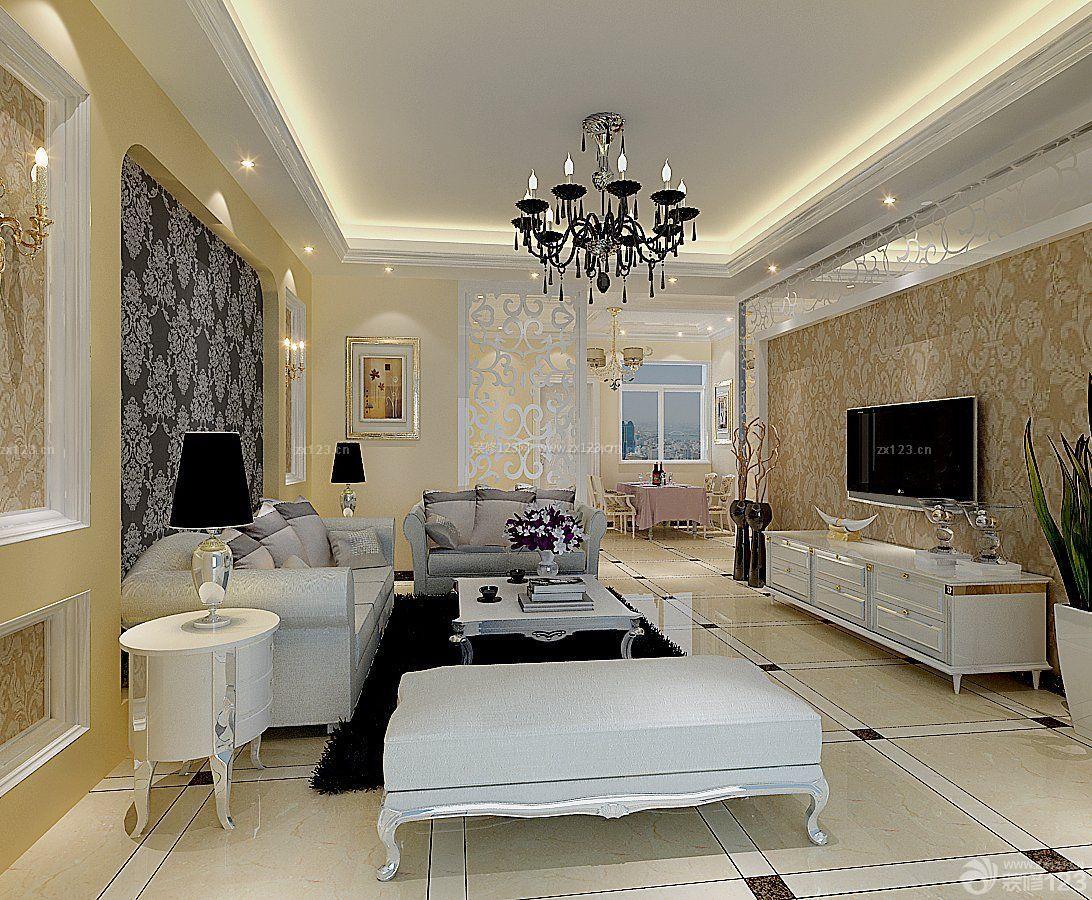 简约欧式风格90多平方的房子装修图片大全