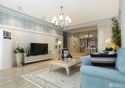 室內客廳簡約吊燈裝修方案