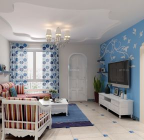 地中海风格简单房屋花藤壁纸装修效果图-每日推荐