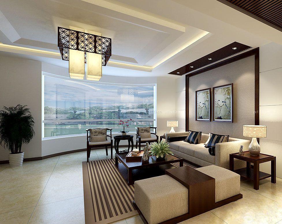 中式房子客厅墙面装饰画装修效果图