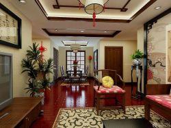 中式房子壁畫背景墻裝修效果圖