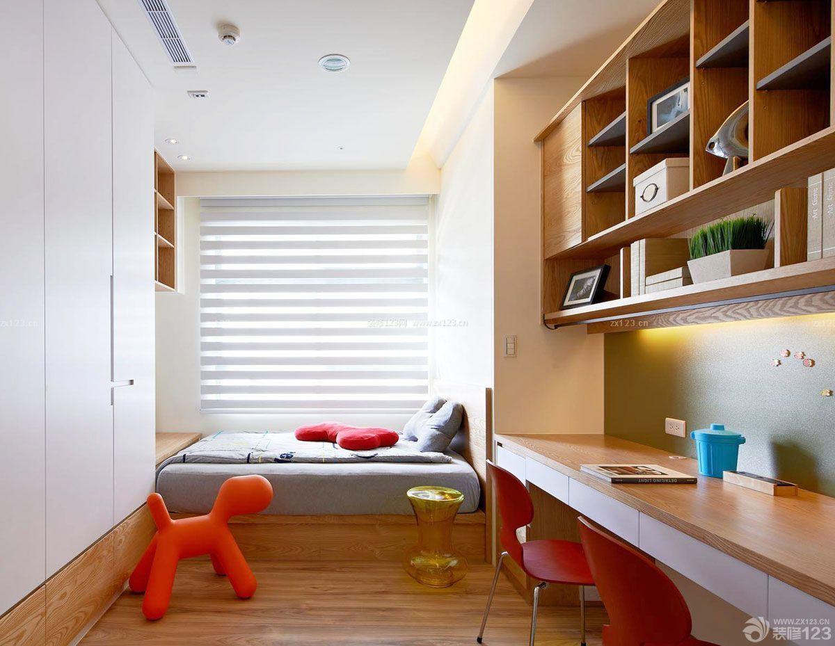 小户型卧室兼书房室内装修效果图大全