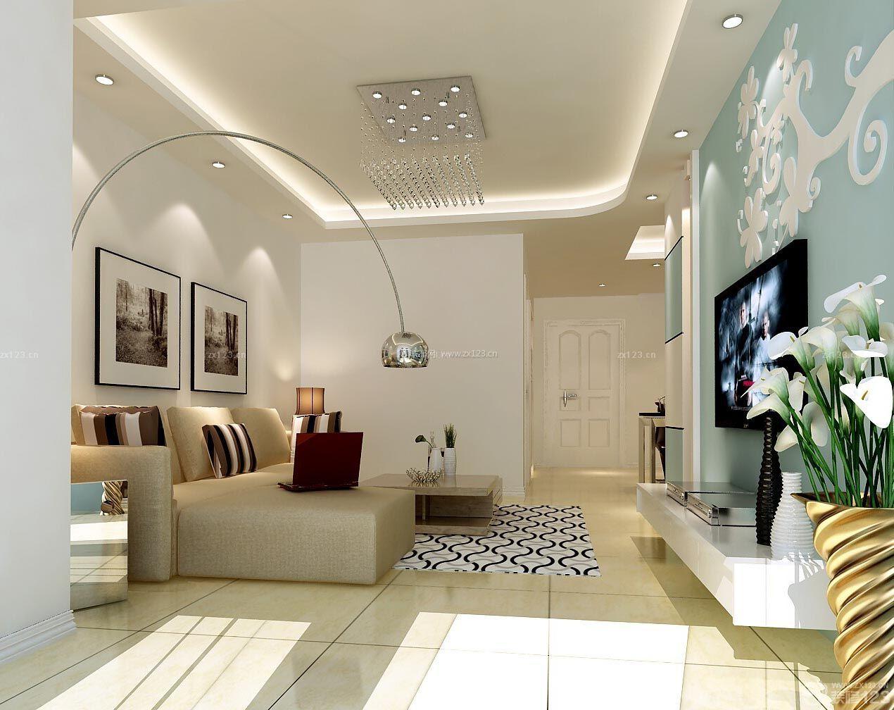 现代90平米房屋小客厅装修效果图大全2015