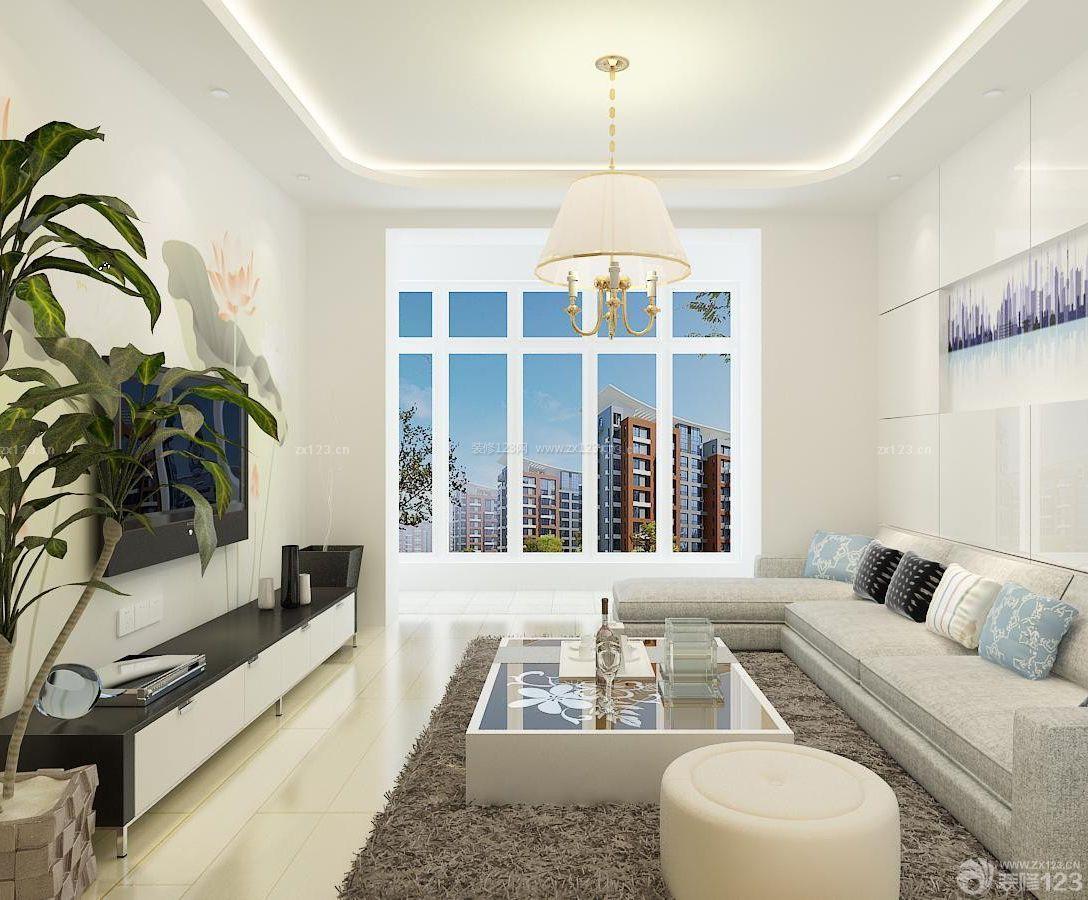 家装90平米房屋简单客厅装修效果图