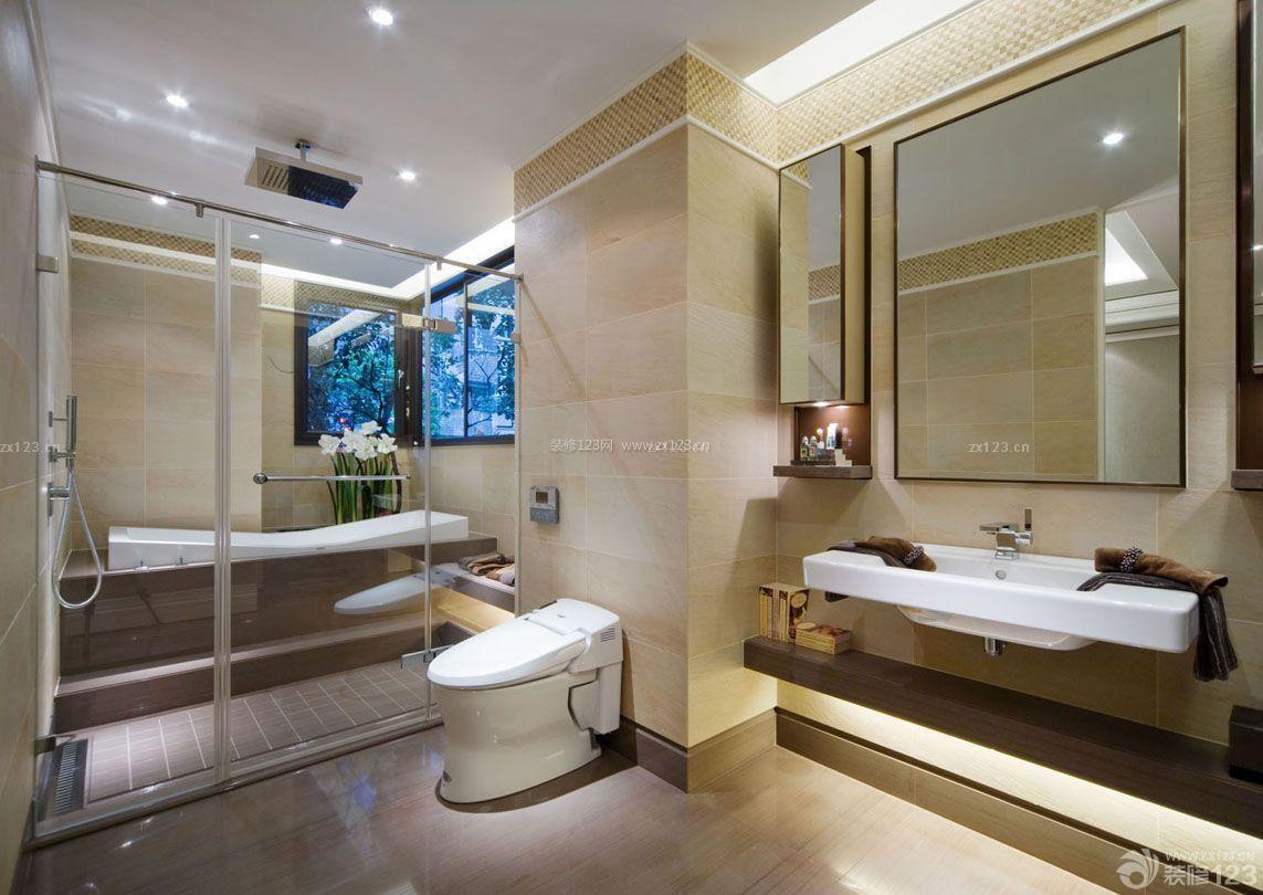 2015室内浴室隔断装修效果图大全