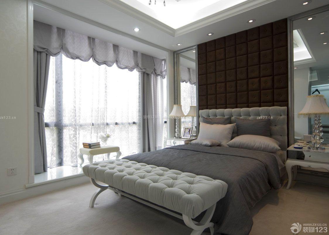 2015现代欧式风格卧室室内装修效果图大全图片