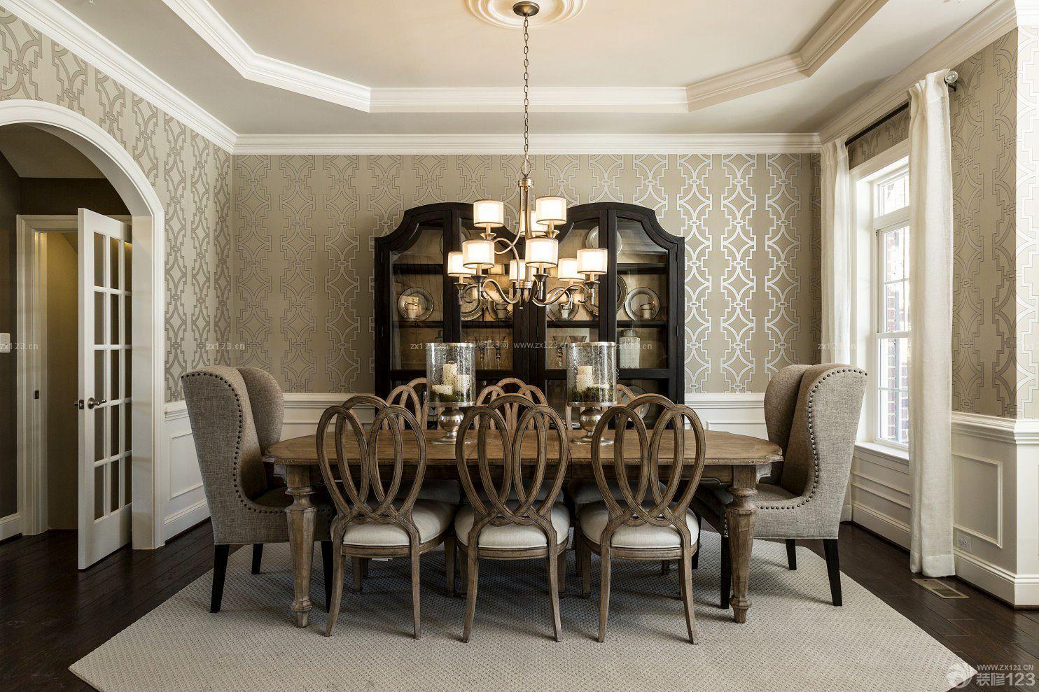 室内欧式古典风格装修墙面壁纸大全