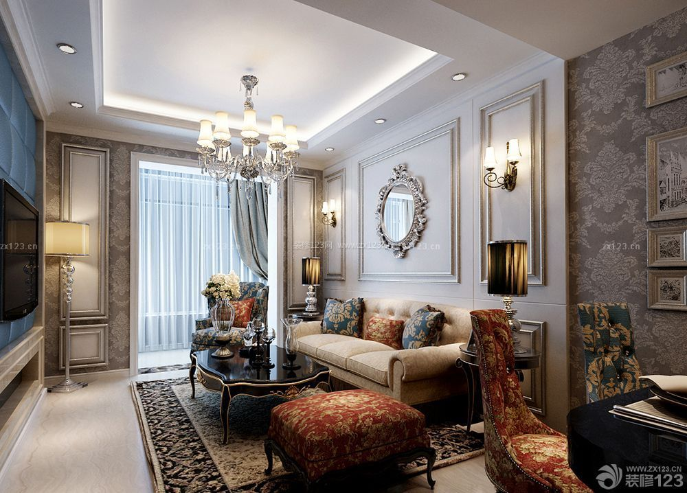 欧美风格室内装�_室内欧美风格装修壁纸设计大全