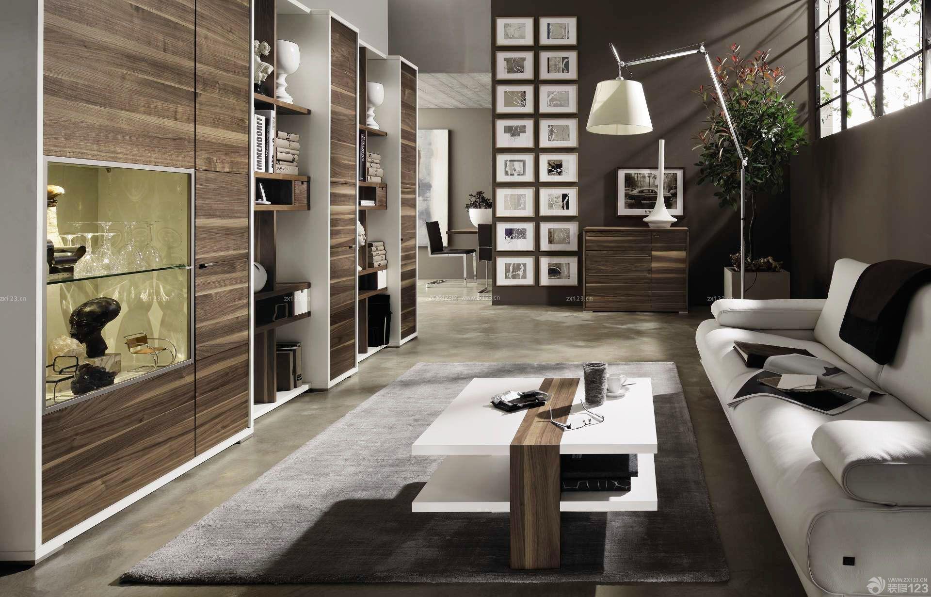 80复式楼客厅照片墙设计装修效果图图片
