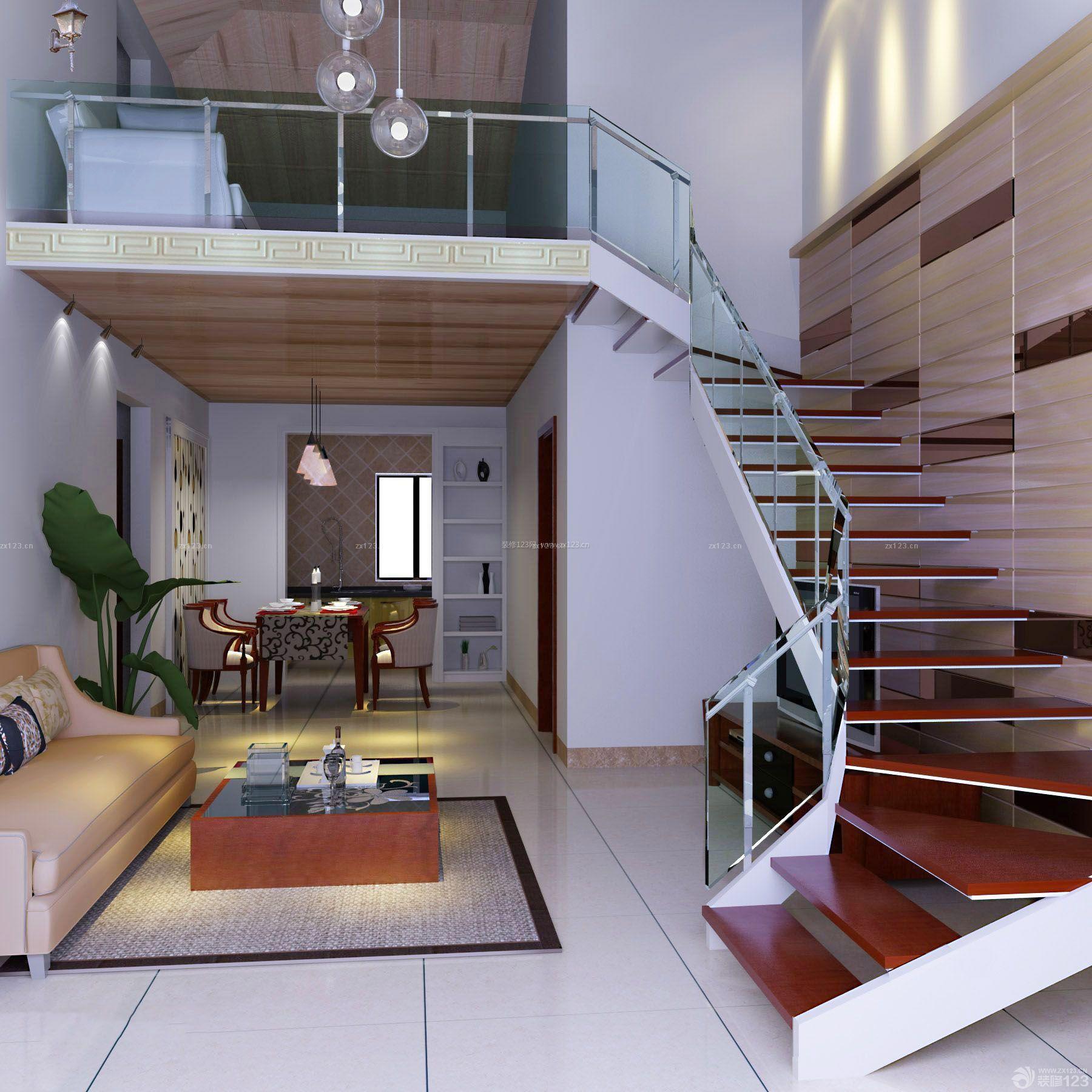 80小户型家装复式楼装修效果图图片